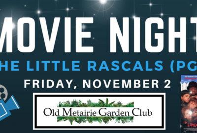Movie Night Header | Old Metairie Garden Club