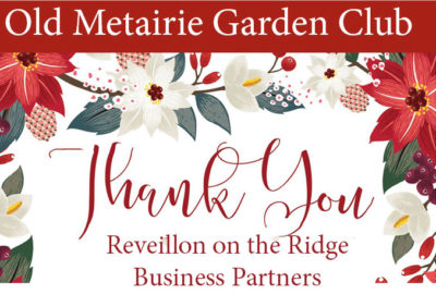 Revillion on the Ridge Thank You | Old Metairie Garden Club