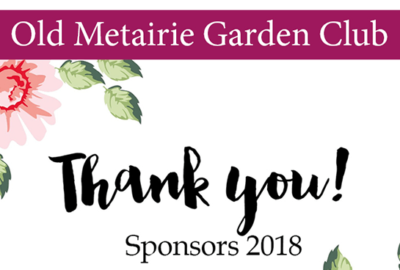 Sponsor Thank You | Old Metairie Garden Club
