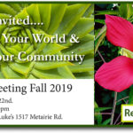 General Meeting 10/22/2019 } Old Metairie Garden Club
