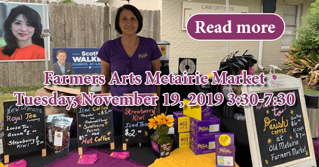 Farmers Arts Metairie Market 11/19/2019 | Old Metairie Garden Club