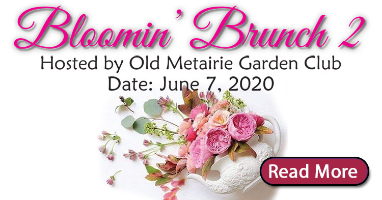 Blooming Brunch 2020 Flyer | Old Metairie Garden Club